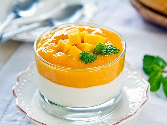 Cara membuat pudding mangga