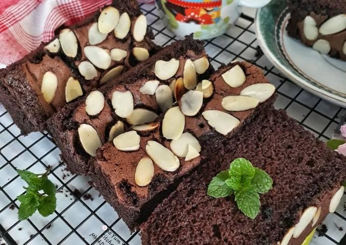 Resep brownies kacang almond