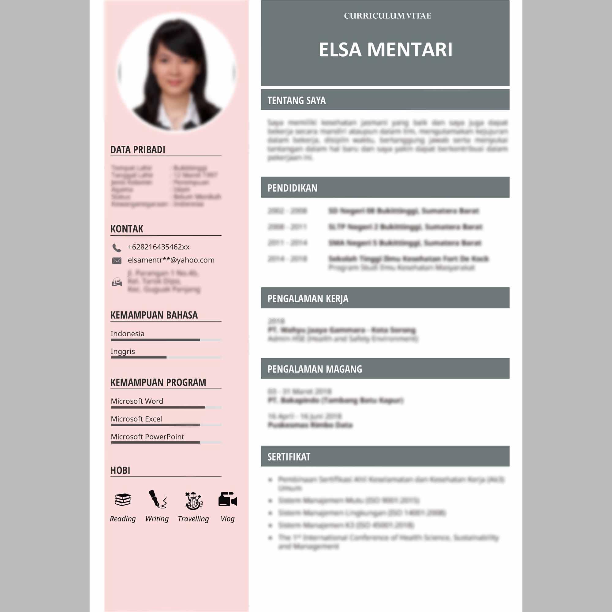 7+ Contoh CV (Curriculum Vitae) Daftar Riwayat Hidup Terbaru !