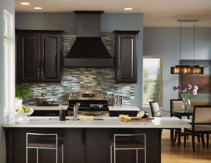 Dapur minimalis desain mozaik