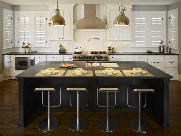 Desain dapur black island