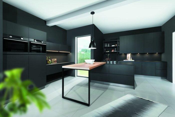 Desain dapur gothic dengan sentuhan pink