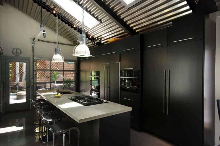 Desain dapur industrial loft