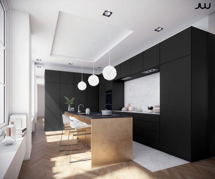 Desain dapur modern ebony