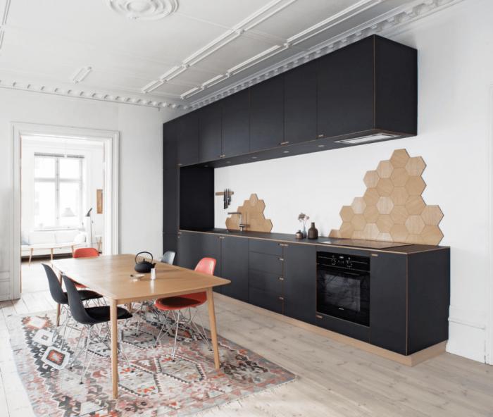 Desain dapur modern etnik yang kreatif