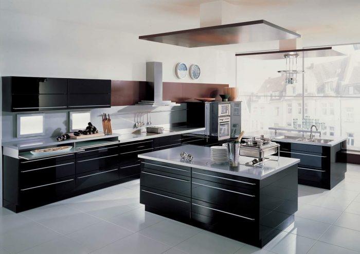 40+ Contoh Desain Dapur Warna Hitam (Modern dan minimalis)
