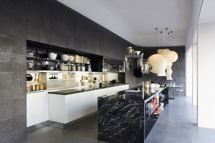 Desain marble kitchen yang futuristik