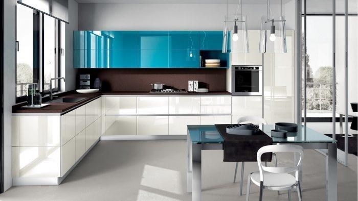 Kitchen Set Dapur Warna Mencolok Membuatnya Atraktif